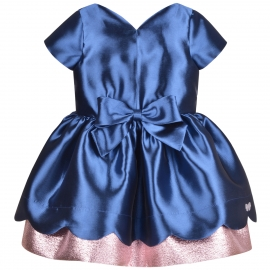 [brand] Scalloped Bodice Dress