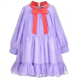 [brand] Gathered Ruffle Dress
