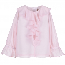 [brand] Ruffle Front Blouse