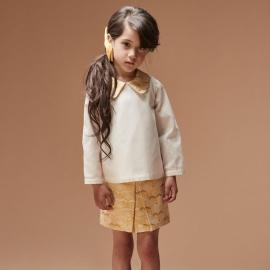Brocade Pleated Mini Skirt