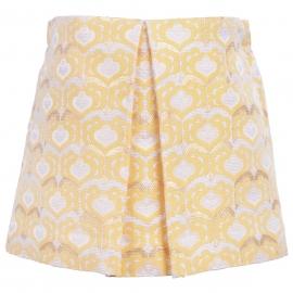 Hucklebones - Brocade Pleated Mini Skirt