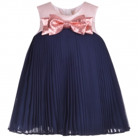 Pleated Trapeze Dress & Bloomers