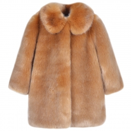 [brand] Faux Fur Coat