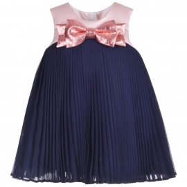 [brand] Pleated Trapeze Dress & Bloomers