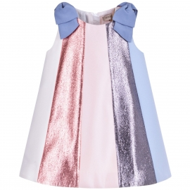 [brand] Rainbow Trapeze Dress & Bloomers