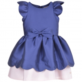 [brand] Scalloped Bodice Dress