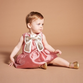 [brand] Gilded Bow Dress & Bloomers