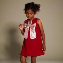 [brand] Gilded Bow Shift Dress