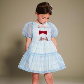 [brand] Puff Sleeved Bodice Dress