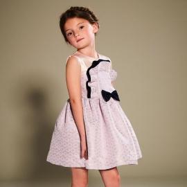[brand] Ruffle Bib Bodice Dress
