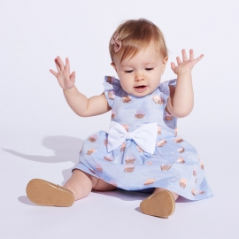 Flutter Bodice Dress & Bloomers