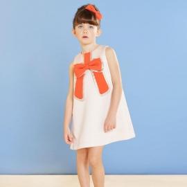Gilded Bow Shift Dress