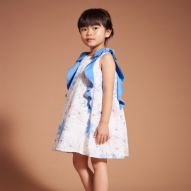 Ruffle Trapeze Dress