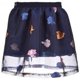 [brand] Gathered Midi Skirt