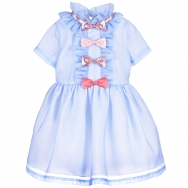 [brand] Multi Bow Bodice Dress
