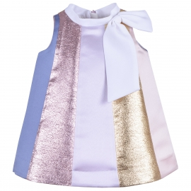 Rainbow Trapeze Dress & Bloomers
