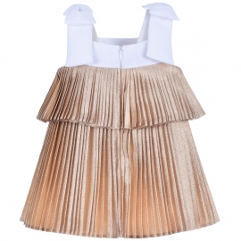 [brand] Tiered Pleated Trapeze Dress & Bloomers