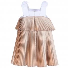 [brand] Tiered Pleated Trapeze Dress