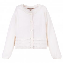 Scalloped Trim Cardigan
